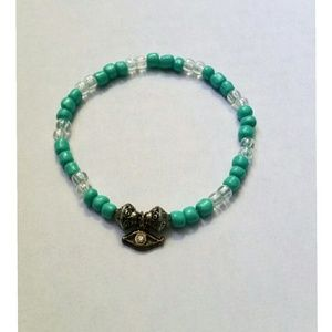 Jewelry - Beaded bracelet with evil eye good luck charm
